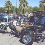 Unique bikes in the parking lot - 1