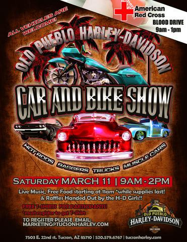 Old Pueblo Car Bike Show Saturday March Blue Knights AZ IX - Car and bike show